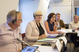 18-08-2016. STOCKHOLM. Britt Lundberg vald som ny gruppordförande för Mittengruppen i Nordiska Rådet. FOTO: GUSTAV MÅRTENSSON